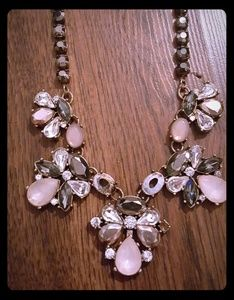 Rustic jeweled statment necklace